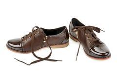 biały odosobneni tło buty Obrazy Royalty Free