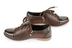 biały odosobneni tło buty Zdjęcia Stock