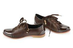 biały odosobneni tło buty Fotografia Royalty Free
