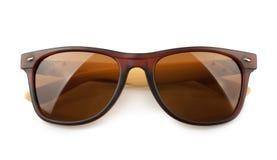biały odosobneni tło okulary przeciwsłoneczne Zdjęcia Royalty Free