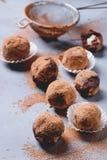 biały odosobnione czekolad trufle zdjęcie stock