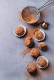 biały odosobnione czekolad trufle zdjęcia stock