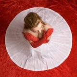 Biały okrąg Fotografia Stock