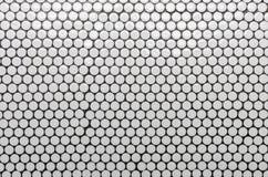 Biały okrąg płytki wzór jako tło obraz stock