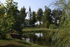 Biały Ortodoksalny kościół zdjęcie royalty free