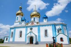 Biały ortodoksyjny kościół Obrazy Royalty Free