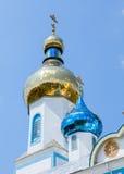 Biały ortodoksyjny kościół Obraz Stock