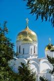 Biały ortodoksyjny kościół obraz royalty free