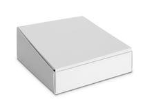 Biały pakunku pudełko dla produktów Obraz Stock