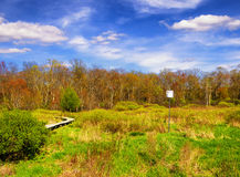 Biały Pamiątkowy natura teren zdjęcia stock