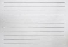 Biały papier z kropki linią fotografia stock