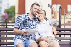 biały pary młode miłości Fotografia Royalty Free