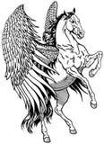 Biały Pegasus royalty ilustracja