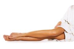 biały piękne nogi Obrazy Royalty Free