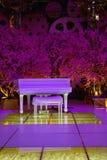 Biały pianino Zdjęcia Royalty Free