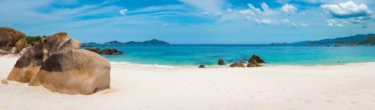 biały piasek na plaży Wietnam panorama zdjęcie stock
