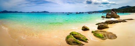 biały piasek na plaży Wietnam panorama fotografia stock