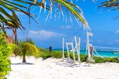 Biały piasek w Tulum, Meksyk fotografia royalty free