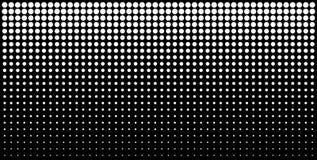 Biały pionowo gradientowy halftone kropkuje tło, horyzontalny szablon używać halftone kropek wzór również zwrócić corel ilustracj ilustracji