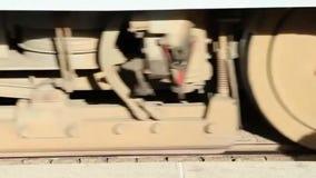 Biały podłoga tramwaj przyjeżdża tramwajowa przerwa zbiory wideo