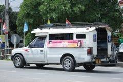 Biały Podnosi up ciężarowego taxi chiangmai Obraz Stock