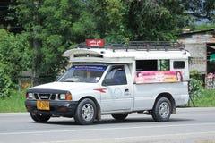 Biały Podnosi up ciężarowego taxi chiangmai Zdjęcie Royalty Free