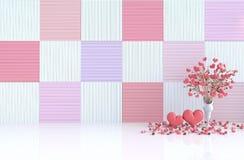 Biały pokój miłość na walentynka dniu 3 d czynią ilustracja wektor