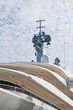 biały pokładu jacht zdjęcia royalty free