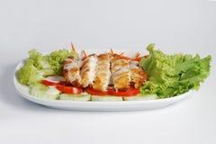 biały polędwicowi rybi warzywa Obrazy Stock