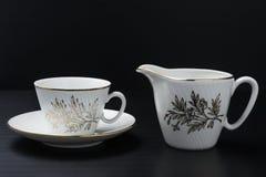 Biały porcelany tableware fotografia stock