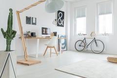 Biały przestronny studio obrazy stock