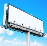 biały puści billboardów nieba Zdjęcie Stock