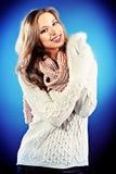 Biały pulower Zdjęcia Royalty Free