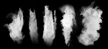 Biały pył obrazy royalty free