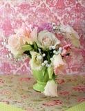 biały różowe bukiet róże Zdjęcia Stock