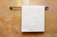 Biały ręcznik Zdjęcia Royalty Free