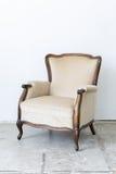 Biały Retro krzesło Zdjęcia Royalty Free