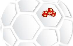 Biały Rosja 2018 futbolowych pucharów świata tło Obrazy Royalty Free