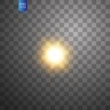 Biały rozjarzony lekki wybuchu wybuch na przejrzystym tle Wektorowa ilustracyjna lekkiego skutka dekoracja z promieniem ilustracji