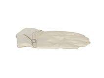 Biały rzemiennej rękawiczki odosobnienie Zdjęcia Royalty Free