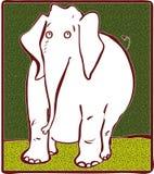 Biały słoń Obrazy Royalty Free