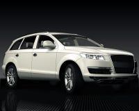 Biały samochód Zdjęcia Royalty Free