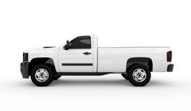 Biały samochód dostawczy ilustracja wektor