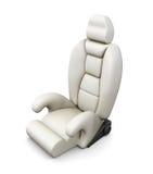 Biały samochodowy siedzenie odizolowywający na białym tle 3d odpłacają się image Zdjęcia Royalty Free