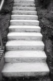 Biały schody w mieście Zdjęcie Royalty Free