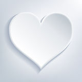 Biały serce Obraz Royalty Free