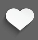 Biały serce Fotografia Royalty Free