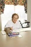 biały starszy obraz akwareli kobieta obraz royalty free