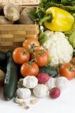 biały stołowi warzywa Obrazy Royalty Free