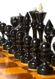 biały szachowi kawałki Zdjęcie Royalty Free